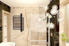 UNICO Wnętrze Zamość, Wnętrza prywatne, Łazienka w kilku wersjach