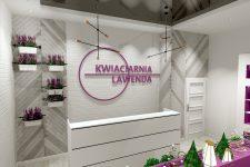 Unico Wnętrze Zamość, Wnętrza publiczne, Kwiaciarnia Lawenda w Radomiu
