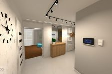 UNICO Wnętrze Zamość, Wnętrza prywatne, Dom w Chełmie – projekt salonu i holu