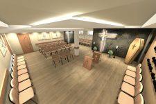 UNICO Wnętrze Zamość, Wnętrza publiczne, Kaplica pogrzebowa w Krasnobrodzie