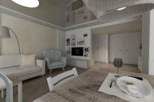 Unico Wnętrze Zamość, Wnętrza prywatne, Mieszkanie w Zamościu – projekt