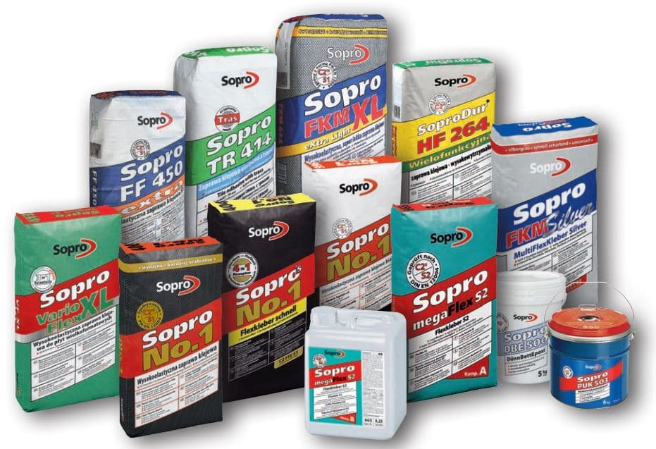 Przegląd oferty firmy Sopro